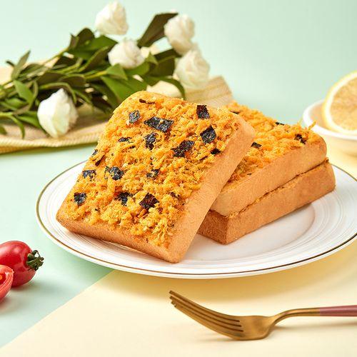 海苔肉松吐司面包520/箱营养早餐健康零食蟹黄肉松