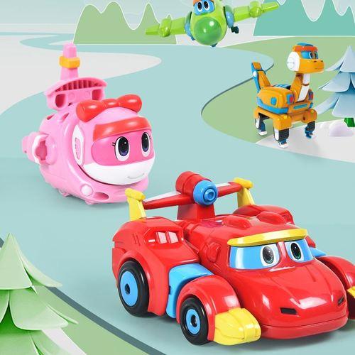 灵动创想帮帮龙出动探险队儿童玩具汽车艾奇小队迷你