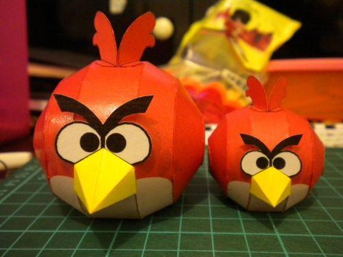 3d立体纸模型愤怒的小鸟摆件儿童创意手工折纸diy制作