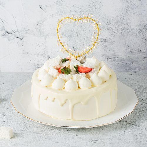 熊猫不走蛋糕椰椰椰椰子冻奶油水果生日蛋糕预定广州同城配送 椰椰椰