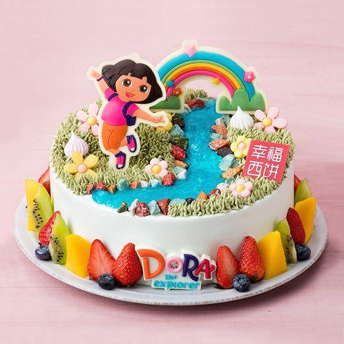 爱探险的朵拉,正版授权儿童蛋糕,第十三届中国国际儿童电影节指定蛋糕