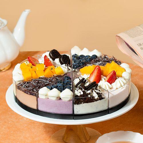 【邀请10人添加客服,79元买】花田喜事-五味慕斯蛋糕