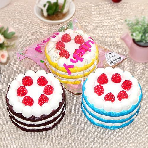 仿真食物生日蛋糕模型慢回弹道具样板装饰摆设
