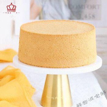 戚风海绵蛋糕胚 家庭自制烘焙生日蛋糕胚6-16寸 新鲜现烤厂家直售 6寸