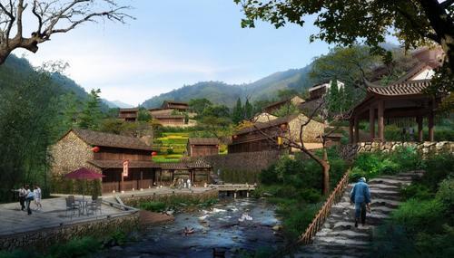 美丽乡村 景观资料设计 园林绿化设计 意向图 017像素