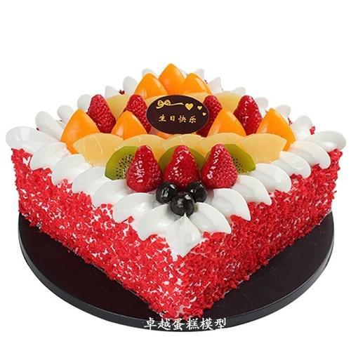 2020新款蛋糕模型新款方形水果蛋糕f模型欧式假蛋糕