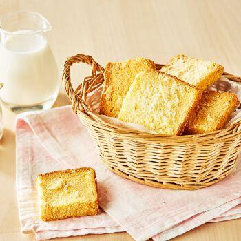 曼可顿 黄油椰蓉饼干烘烤吐司片面包干 早餐点心下午茶零食家庭diy