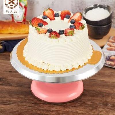 生日蛋糕托盘旋转家用蛋糕底托盘可转家用自制防滑裱花台蛋糕转盘