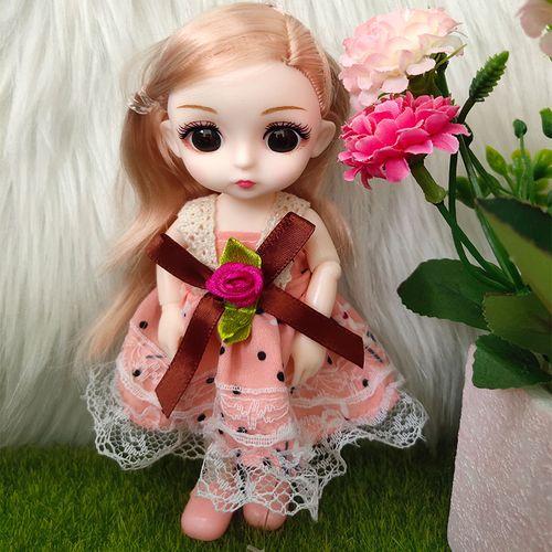 雅斯妮迷你娃娃祖丽莎玩具芭比女孩软胶仿真胶皮娃