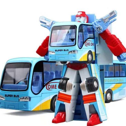 男孩宝宝巴士车玩具变形模型公交变身儿童趣味巴士玩具小小男孩.