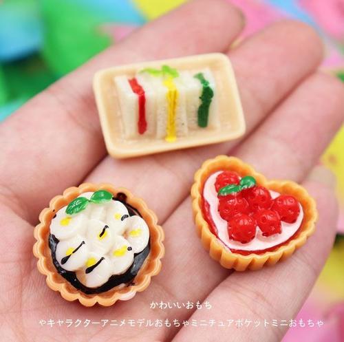 零食创意蛋糕袖珍mini微缩食玩盲袋小孩餐厅屋摆件配件装饰物新年