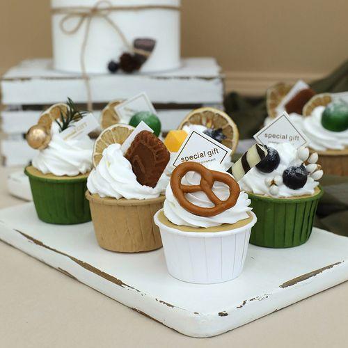 纸杯蛋糕模型 仿真纸杯蛋糕 甜品台甜点模型道具 婚庆