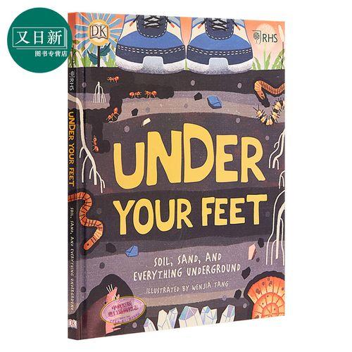 预售 under your feet dk你脚下的 儿童亲子自然知识科普绘本
