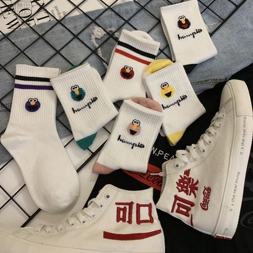 袜子女韩版中筒ins潮流搞怪表情袜子女可爱日系学院风网红运动袜
