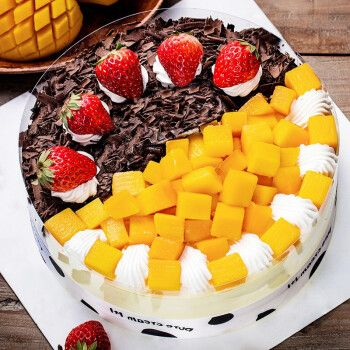 芙瑞多 12寸乳脂动物奶油水果生日蛋糕同城配送儿童祝寿聚会预定新鲜
