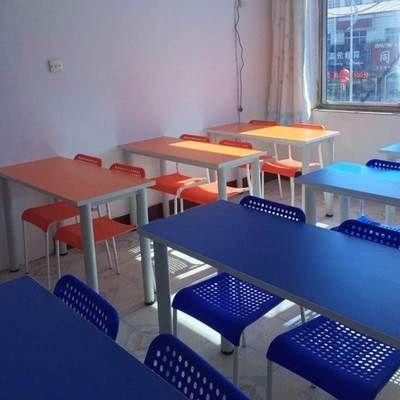椅套培训装辅导班双人课桌课桌补习班组合校园中小学生桌学校美术