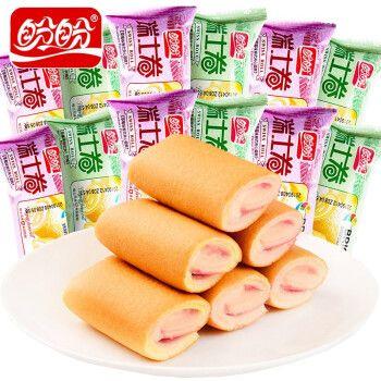 盼盼瑞士卷铜锣烧早餐西式糕点散装蛋糕袋装零食面包休闲小点心 瑞士