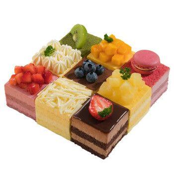 味多美 生日蛋糕同城配送 店送 水果蛋糕 奶油蛋糕味多美 9拼蛋糕