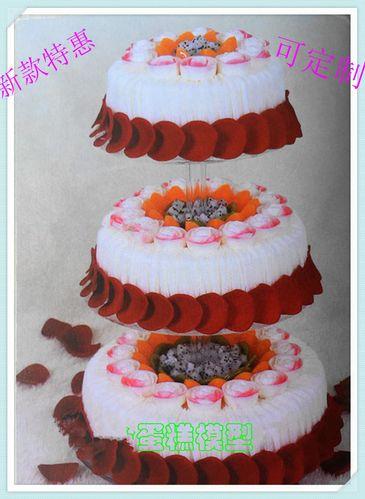 高端新款3层玫瑰婚礼婚庆仿真蛋糕模型橱窗展示生日来