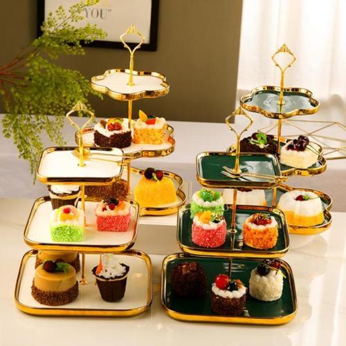 蛋糕展示架欧式拼盘放点心的架子蛋糕架烘焙下午茶点心架餐厅个性