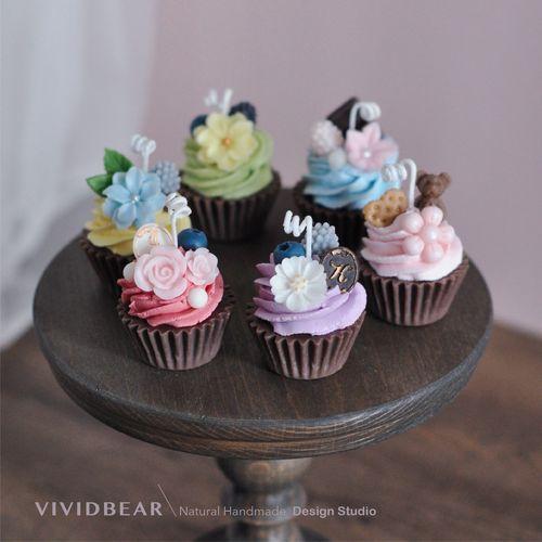 奶油杯子蛋糕香薰蜡烛可爱摆件生日礼物婚礼伴手礼