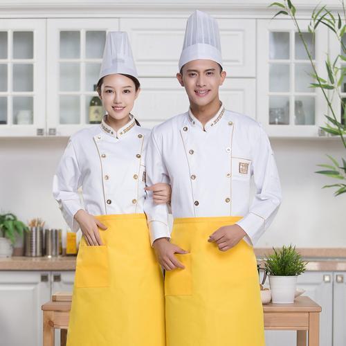 酒店餐饮厨师服长袖农家乐火锅餐厅后厨工装中西点师