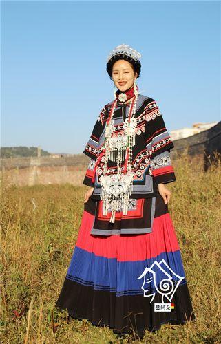 凉山彝族服装女盛装套装复古民族风传统服饰少数民族
