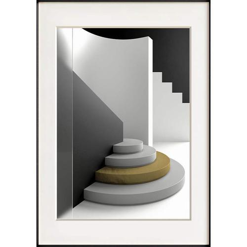 生活的定义 现代简约客厅黑白灰线条装饰画卧室挂画