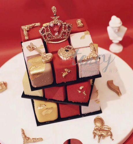 方形魔方硅胶慕斯蛋糕模具法式甜点立体西点烘焙装饰