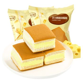 味办公室夹心奶酪面包小吃早餐半熟零食品下午茶点心蛋糕 芝士味500g