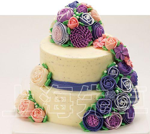 【正品】上海先卓仿真蛋糕模型 塑胶生日蛋糕模型韩式裱花样品