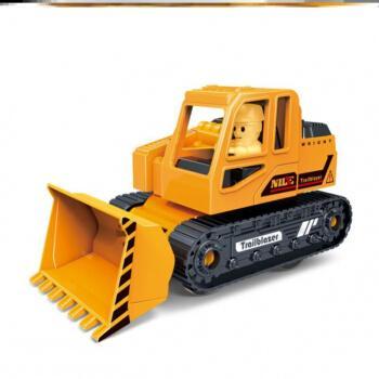 洞攸抱工程车四兄弟惯性四合一儿童玩具挖掘机车模型迷你吊车救援车