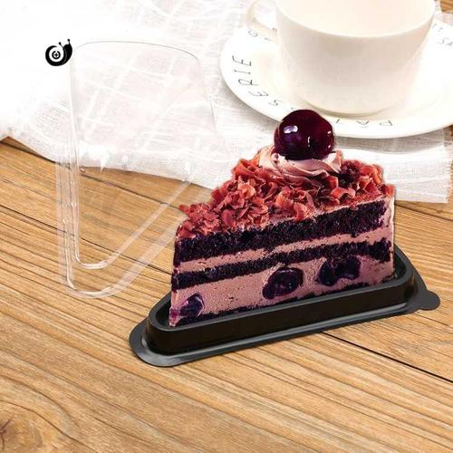 a03三角形蛋糕盒子切件慕斯8寸千层切块榴莲西点透明