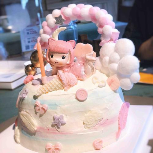 粉萌小公主蛋糕(图片为6寸效果,配件不一定一样)