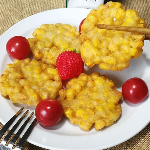 黄金玉米烙网红油炸小吃半成品点心香酥玉米饼玉米酥
