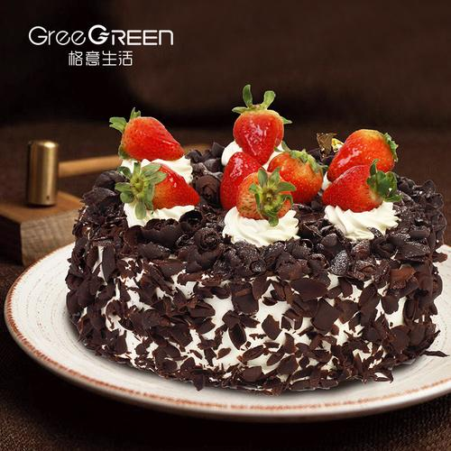 格意生活 黑森林慕斯蛋糕 经典巧克力儿童生日蛋糕