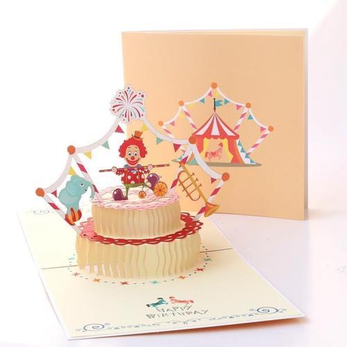 贺卡送员工diy立体祝福蛋糕男生礼物创意代写手工小卡