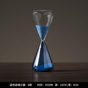 现代简约玻璃沙漏摆件家居客厅桌面饰品摆件创意时间沙漏计时器h1