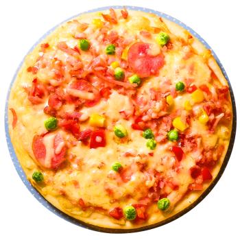 潮香村 培根披萨188g 匹萨半成品饼胚芝士西式烘培 烤箱微波炉加热