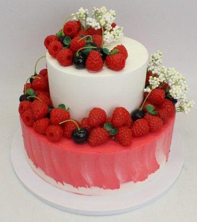 新款双层水果仿真生日蛋糕  欧式水果生日蛋糕模型