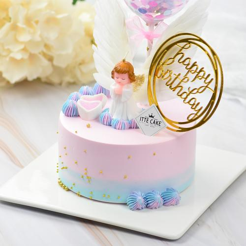 【天使蛋糕】 新鲜水果 生日蛋糕