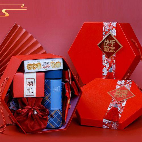 结婚喜饼喜糖礼盒成品含糖订婚婚宴回礼婚庆伴娘伴手
