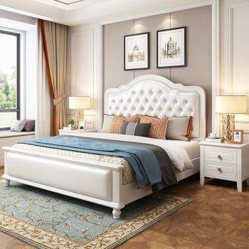 8米双人床带软靠高箱储物卧室家具 床+床垫+床头柜*1(备注颜色款式)