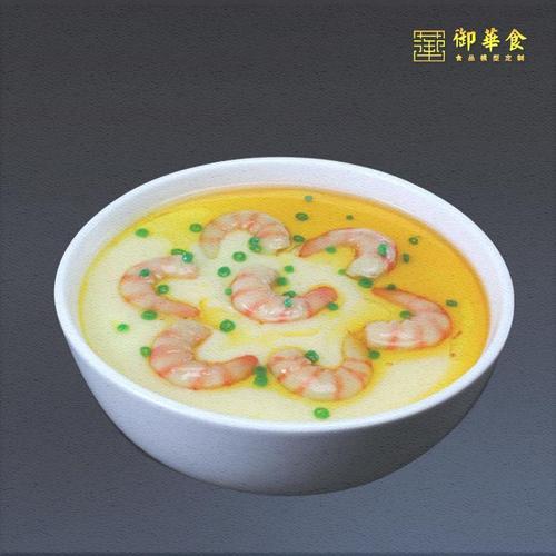 御华食品模型仿真假菜模型定制定做虾仁蒸蛋月子餐
