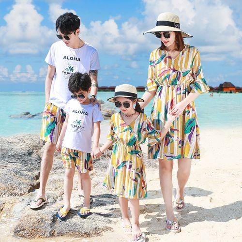 法式亲子装一家三口夏季2020新款网红款母子母女装