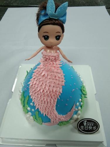 【美人鱼芭比生日蛋糕大约8英寸*1盒】(宜春)