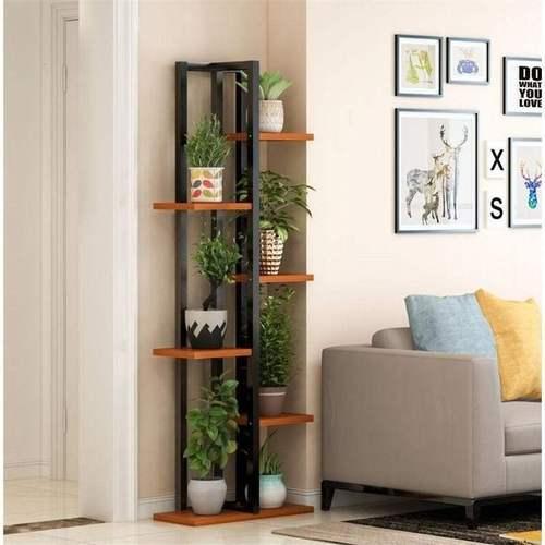 花架空间钢铁萝花架多层室绿木落地内省花架子卧室