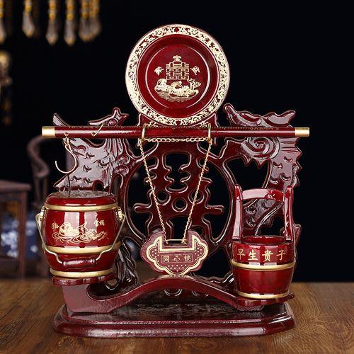 嫁女儿的礼品 娘家陪嫁物品大全女方需要准备的东西子孙桶称杆