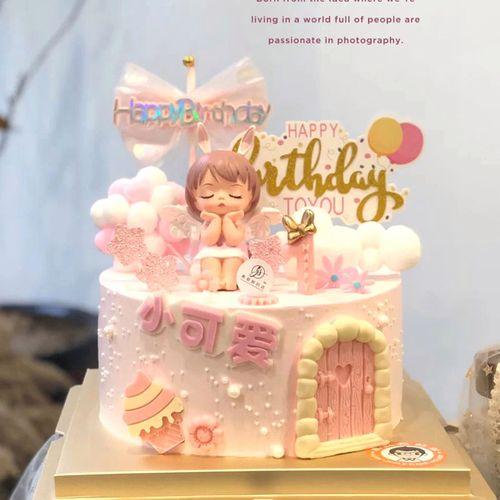 安妮公主生日蛋糕创意定制长沙同城配送女孩儿童宝宝