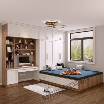 柜全屋定制榻榻米飘窗储物小户型衣柜床一体房间整体简约现 兔宝宝板